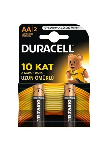 Duracell Duracell Dayanıklı 2'Li Alkalin 1,5V Aa Kalem Pil Renkli